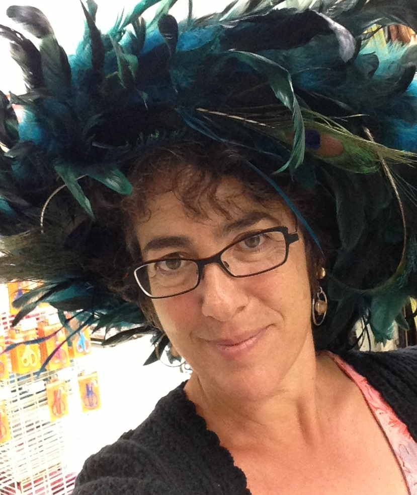 Tina in feather hat 2013