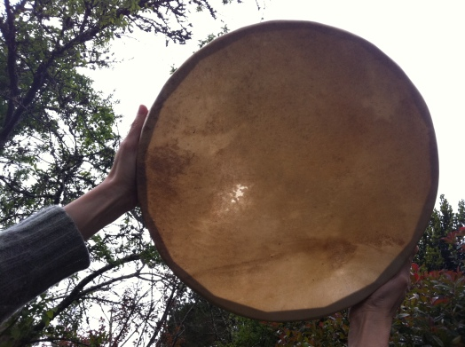 Damien's drum, made by Tina Fields